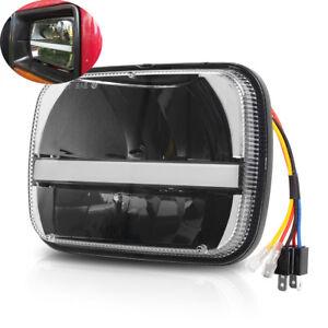 CREE 5x7 7x6'' LED Headlight Halo DRL For Jeep YJ Cherokee XJ Chevrolet Ford GMC