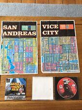 Grand Theft Auto 1-Play Station (ps1) Spiel mit Karten & Anleitung