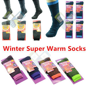 1 Pair SOX Women Men Heavy Winter Warm Work Boots Wool Feel Crew Socks Size 5-11