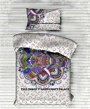 Indian Elephant Ombre Mandala Bed Quilt Duvet Doona Cover Blanket Bohemian Throw