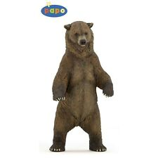 Papo Grizzly Bear Figurine - Wild Animal Fantasy Action Figure Detailed Plastic