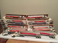 Lot of 9 Exxon Toy Tanker Trucks - With Working Lights And Horn, Free Shipping!!