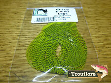HOT YELLOW GRIZZLY FLUTTER LEGS BARRED HARELINE DUBBIN NEW FLY TYING MATERIAL