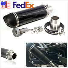 51mm Real Carbon Fiber Motorbike ATV Slip-On Exhaust Muffler Pipe With DB Killer