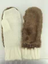 Women's STYLE & Co by MACYS Faux Fur Mittens - 1 size - $50 MSRP - 25% off