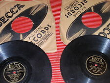 LOT OF TWO ANTIQUE/VINTAGE B. CROSBY RECORD ALBUMS CHRISTMAS SONG/HAUNTED HEART