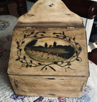 Primitive Hand Painted Wall Box
