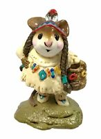 Wee forest folk Running Doe & Navy Little Dear Indian Thanksgiving M-107b W/Box