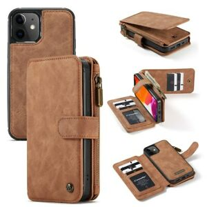 Removable Magnetic Flip Leather Wallet Case For iPhone 13 12 Pro Max 11 XS XR 87