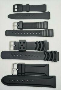 Kunststoff PVC Silikon Uhrenarmbänder auch für Casio 12-28mm Uhrenband Ersatz