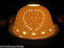 Groß Liebe Herzen Herz Love Porzellan Windlicht Lithophanie Porcelain Light Dome