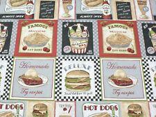Tessuto Arredamento Tela Olona American Diner mt. 0.50 x 1.40 - Sailcloth Fabric