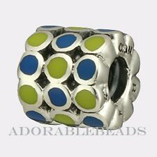 Authentic Chamilia Sterling Silver Enamel Community Bead 2020-0643  *RETIRED*