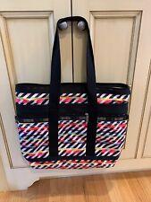 LeSportsac Shopper Travel Tote  Multi-Color geometric  Shoulder Bag black pink