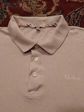 BURBERRY Men's Polo Style 100% Cotton Xtra Large BEIGE S/S Shirt SLIM FIT