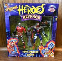 Cyborg Spider-Man & Deathlok Vintage Toybiz Heroes Revenge Box Set 1997 Toybiz