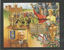 GUERNSEY 1999 RULES OF FOOTBALL MINISHEET SG,MS780 UM/M N/H LOT R730