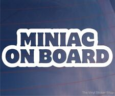 Miniac a bordo Divertido Mini car/window/bumper / laptop/wall Vinilo calcomanía / etiqueta adhesiva