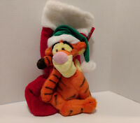 "Motion Activated Tigger Stocking Disney's Candy Cane Christmas 2000 NWT 16"" RARE"
