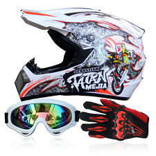 S-XL Off-Road Motorcycle ATV Helmets Dirt Bike Gear Motocross + Goggles+Gloves