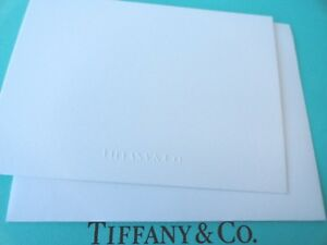 Tiffany & Co. Blank All Occasion Embossed Gift Note Card with Envelope