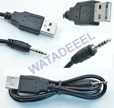 Spy Watch Interface Cable Cord - USB 2.0/2.5mm Jack Plug - Charge File Transfer