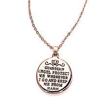 Rose Gold 'Guardian' Message Necklace