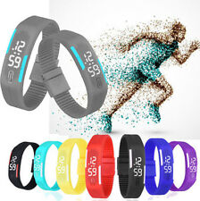New Ultra Thin AG Men Girl Sports Silicone Digital LED Sports Wrist UR Watch