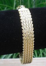 24k GOLD over 925 STERLING SILVER CLASSIC RICCIO BRACELET with TRENDING UPDATES