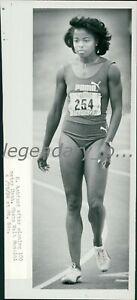 1984 Evelyn Ashford Olympic Track Star Gold Medal Winner Original Press Photo