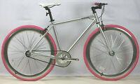 fixie bike F3 Alloy Urban Bike Flip Flop Hub city bike700c silver/pink 48/54 cm