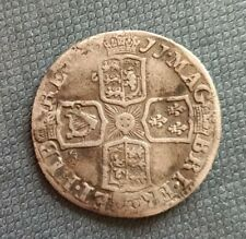 More details for 1711 queen anne silver sixpence - spink 3619