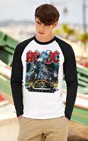 AC/DC Men Women Long Sleeve T-Shirt Rock Band Unisex Baseball Raglan Top S-XXL 3
