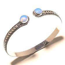 Cuff Bengal Jewelry Adjustable Size 925 Silver Overlay Opal Gemstone Fashion