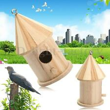 Wooden Bird House Birdhouse Hanging Nest Nesting Box For Home Garden Decoration