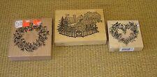 PSX Rubber Stamps | Butterfly Heart Bouquet Wreath G-1221 K-2106 K-1097 House