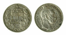 pcc1840_89) Hungary Franz Joseph I 1 Korona 1912 AG Toned