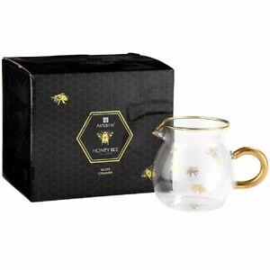 NEW ASHDENE HONEY BEE GLASS CREAMER JUG 250ml Borosilicate Milk Cream