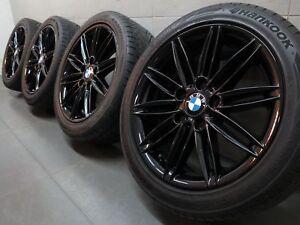 """Genuine BMW 17"""" 207M Alloy Wheels: Gloss Black E46 E81 E82 E87 E88 F20 +TYRES"""