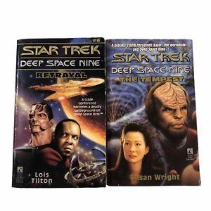 Star Trek Deep Space Nine #6 Betrayal & #9 The Tempest 2 x Paperbacks