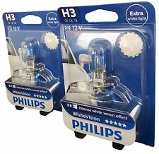 H3 PHILIPS White Vision intense XENON EFFECT 12336 WHVB 1 Einzelblister 2 Pièce
