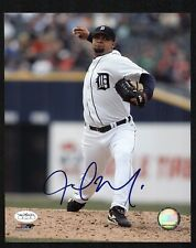 JOEL ZUMAYA Signed 8x10 Photo DETROIT TIGERS Pitcher JSA