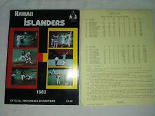 More details for hawaii islanders 1982 official souvenir program & scorecard v portland beavers