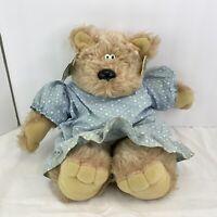 "Heartline TEDDY BEAR 14"" Mama Doll Plush Stuffed Soft Toy Vtg 1983 Graphics Intl"