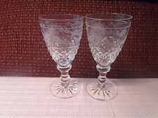 "Kosta Boda Elvira Madigan White Wine Glass (2)  4 1/2"" 1991-2002 Signed"