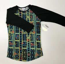 XXS Lularoe Randy Black Sleeves with a Multi-color Body, NWT Beautiful!