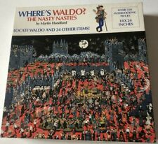 Vintage WHERE'S WALDO? The Nasty Nasties Over 550 piece Interlocking PUZZLE
