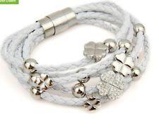 Crystal Bangle Leather Unbranded Costume Bracelets