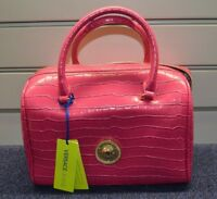 VERSACE LINEA E1VPBBC7 PINK SNAKE SKIN EFFECT HAND BAG - BRAND NEW WITH TAGS