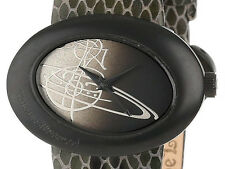 PRE-OWNED $260 Vivienne Westwood Women's Ellipse Black Swiss Watch VV014CHBK